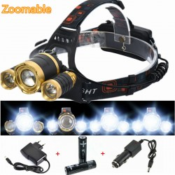 Lampe Frontale 8000LM 3 Leds avec Zoom